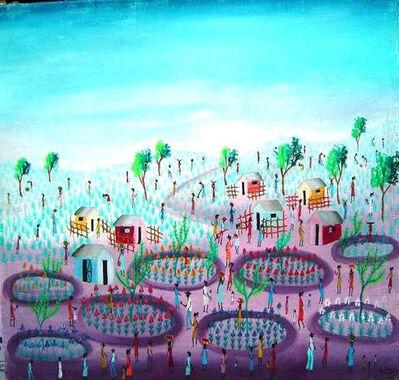 Aida Dostaly, 'Village Scene ', ca. 1980