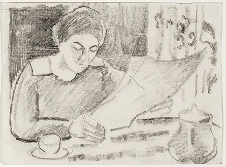 August Macke, 'Morning Breakfast', 1911