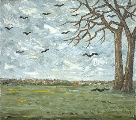 Peter Booth, 'Painting (landscape, trees on right)', 2010