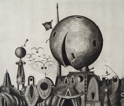 Valton Tyler, 'Salute to a Sphere', 1971