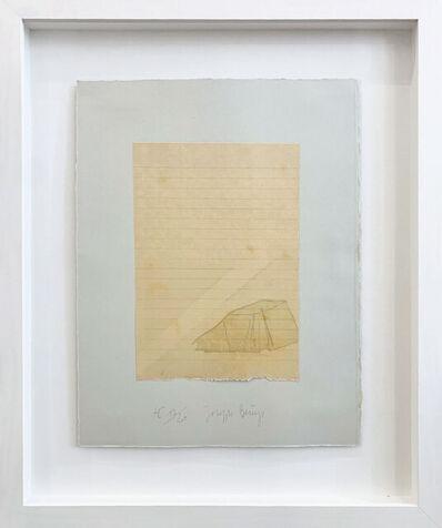Joseph Beuys, 'Zelt und Lichtstrahl', 1971
