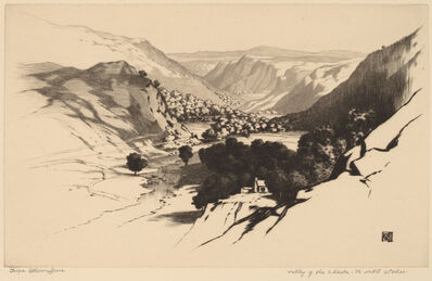 George Elbert Burr, 'Valley of the Lledr, North Wales (no.1)', probably c. 1900