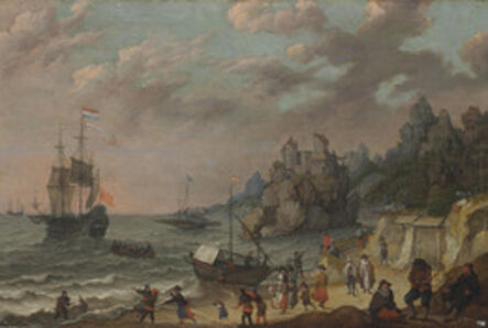 Adam Willaerts, 'Dutch merchant ships in a harbor'