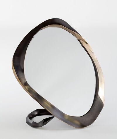 "Aldus, '""Devil,"" Bronze Tabletop Mirror', 2013"