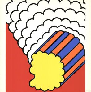 Nicholas Krushenick, 'White Smoke Red Sky', 1968