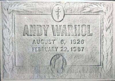 Trey Speegle, 'Warhol Grave Rubbing', 2004