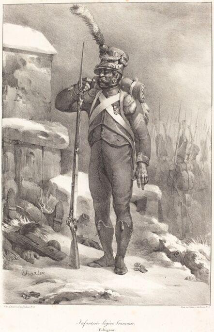 Nicolas-Toussaint Charlet, 'Infanterie legère française, Voltigeur', 1822