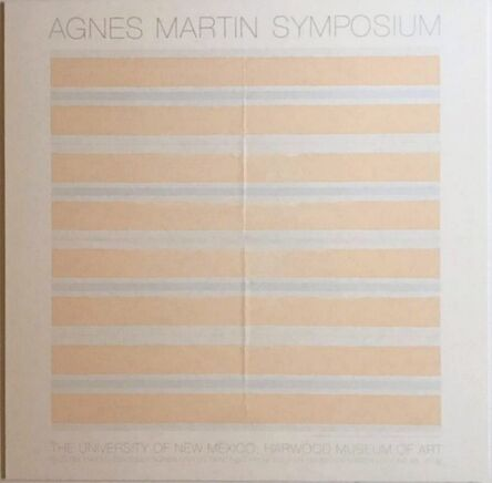 Agnes Martin, 'Agnes Martin Paintings from 2001', 2002