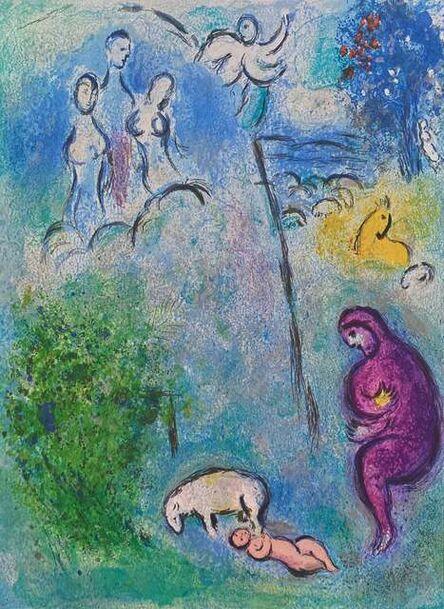 """Marc Chagall, '""""Discovery of Chloé by Daphnis (Découverte de Chloé par Daphnis)"""" from Daphnis et Chloé (Cramer 46; Mourlot 310)', 1977"""