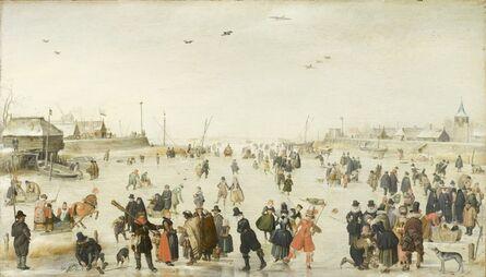 Hendrick Avercamp, 'Winter Scene on a Frozen Canal', ca. 1620
