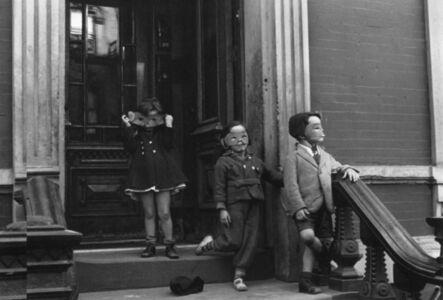 Helen Levitt, 'Kids in Masks on Stoop, New York City, New York', ca. 1942