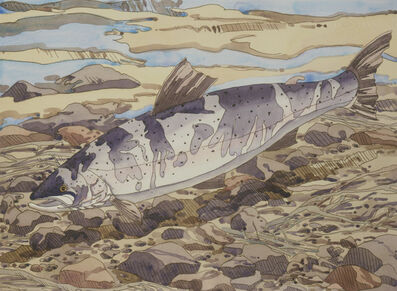Neil G. Welliver, 'Salmon', 1977