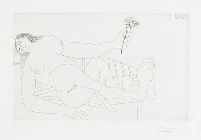 Pablo Picasso, 'Femme à la fleur sur un transat, pl. 278, from Séries 347 (Bloch 1758; Baer 1775)'