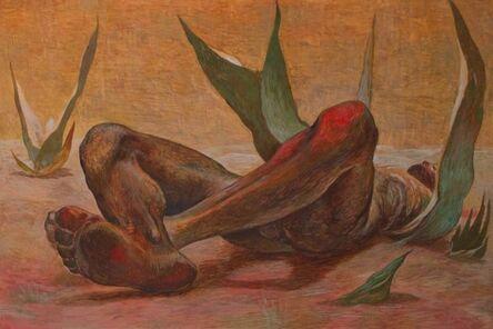 Guillermo Meza, 'Hombre Acostado Entre Maguey', 1952