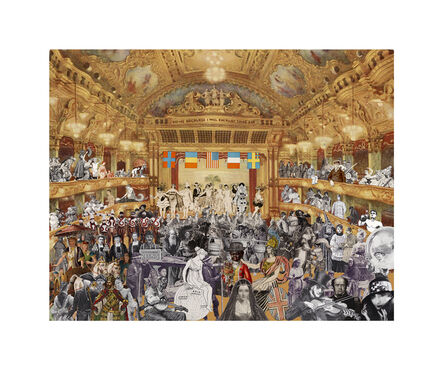Peter Blake, 'Marcel Duchamp's World Tour: New Year's Eve Parade at the Tower Ballroom, Blackpool', 2015