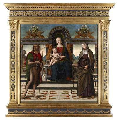 Master of Santo Spirito, 'The Virgin and Child with St. John the Baptist and St. Verdiana'