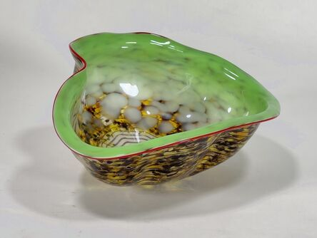 Dale Chihuly, 'Dale Chihuly Original Lime Green Macchia with Red Lip Wrap Handblown Glass, $8,000 Apprasial', ca. 2000