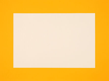 """Donald Judd, 'no title - sheet 6 from """"Set of 6 woodcuts printed in Cadmium Yellow Light, Cadmium Yellow and Cadmium Yellow Deep""""', 1988 -1990"""