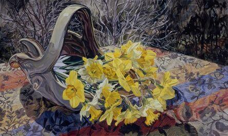 Janet Fish, 'Daffodils/Dark Trees', 2008
