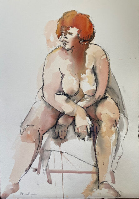 Carolyn Newberger, 'Woman with Red Hair', 2021