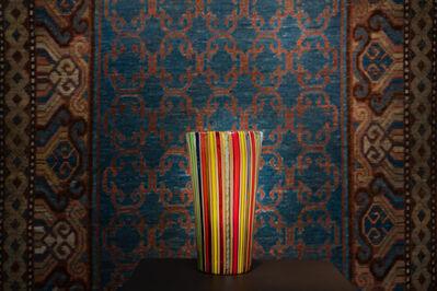 Murano, 'A fine multicoloured glass cane vase', ca. 1980