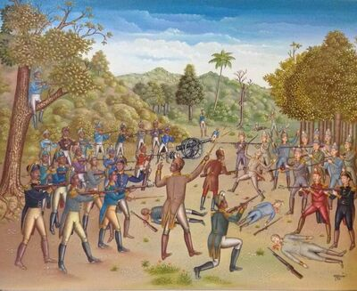 Serge Moleon Blaise, 'The Battle Between the Haitians and the English 1789', 1993