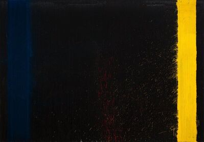 Pat Steir, 'So Long Black, Silver and White', 2009