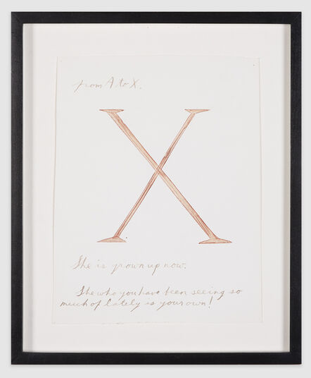 "Raymond Pettibon, '""From A to X""', 1991"