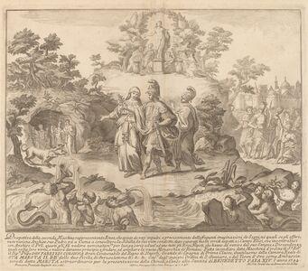 "Miguel de Sorellò after Francisco Preciado de la Vega (designer), 'Aeneas and the Cumean Sybil, for the ""Chinea"" Festival', 1744"