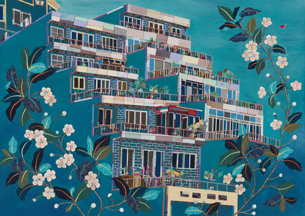 Mi Young Je, 'House with flowers', 2017