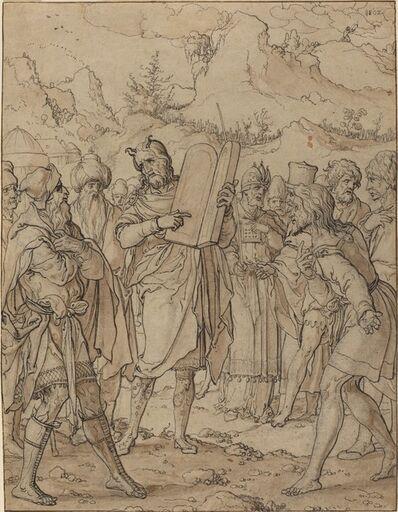 Jan Swart van Groningen, 'Moses Delivering God's Commandments to the Israelites'