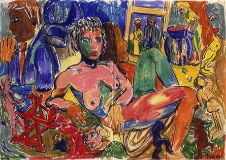Viola Frey, 'Western Civilization Diptych #2', 1997