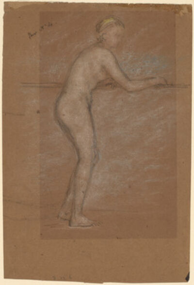 James Abbott McNeill Whistler, 'Nude Leaning on a Rail [recto]', 1871/1874