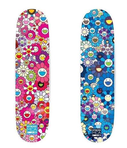 Takashi Murakami, 'Takashi Murakami Flowers Skateboard Decks (set of 2)', 2017
