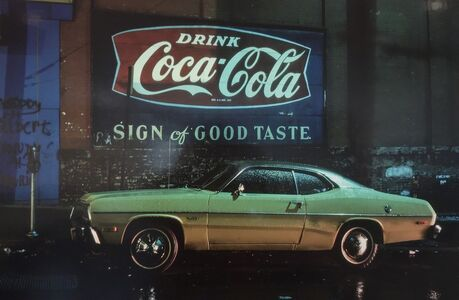 Langdon Clay, 'Sign of Good Taste Duster, Plymouth Duster Hoboken, NJ', 1975