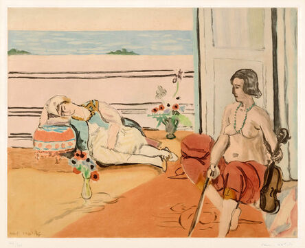 Henri Matisse, 'Odalisque sur la terrasse (Odalisque on the Terrace)', 1922