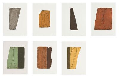 Robert Mangold (b.1937), 'Fragments I-VII', 1997