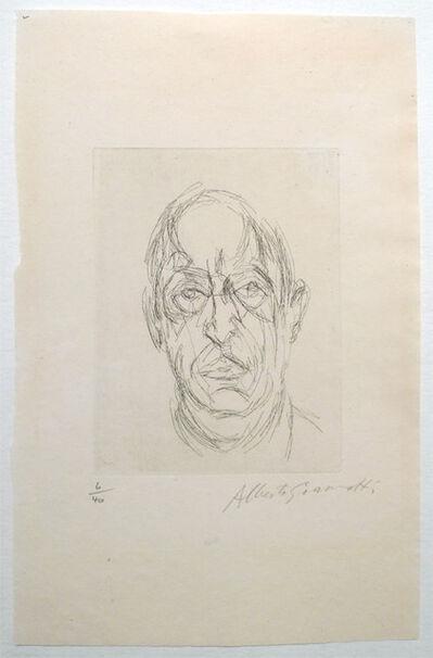 Alberto Giacometti, 'Alberto : Portrait du Poete Orbandale', 1962
