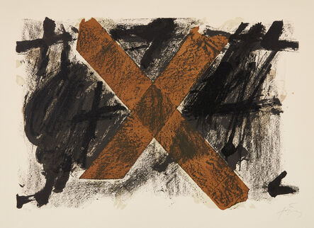 Antoni Tàpies, 'Lettre X', 1972