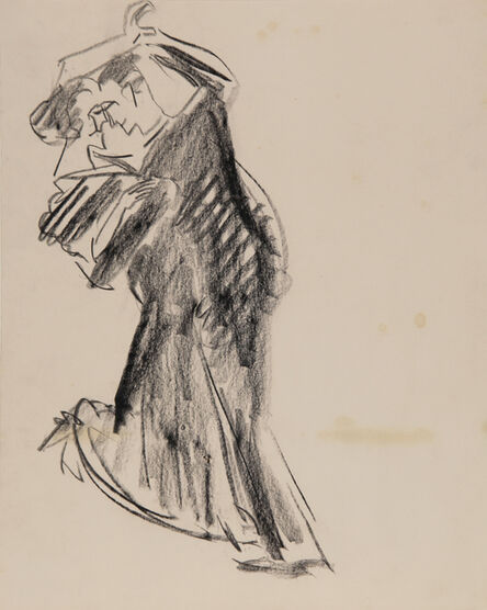 Ernst Ludwig Kirchner, 'Klassisches Tanzpaar in Abendrobe (Königstein) (Classical dance couple in dinner gown (Königstein))', 1923