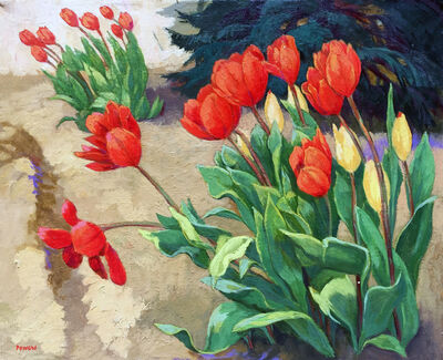 Anne Lyman Powers, 'Red Tulips'