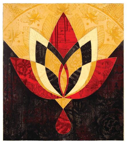 Shepard Fairey, 'Bleeding Lotus, Version 3', 2018