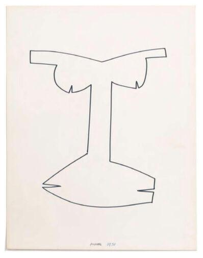 Bruno Munari, 'Viso 4 - Antenati', 1970