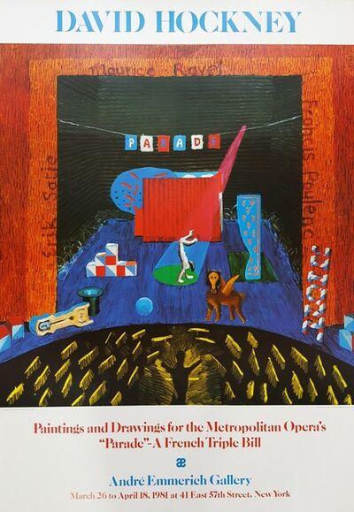 David Hockney, 'Set for Parade', 1980
