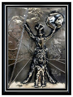 Salvador Dalí, 'Salvador Dali Bronze Wall Relief Sculpture Don Quixote Silver Surreal Signed Art', 20th Century