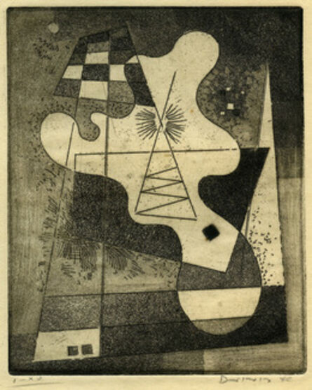 Werner Drewes, 'Upright Curved Form Abstraction', 1940