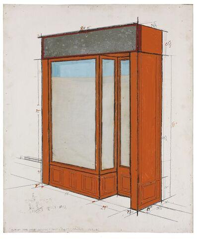 Christo, 'Orange storefront (Project)', ca. 1964