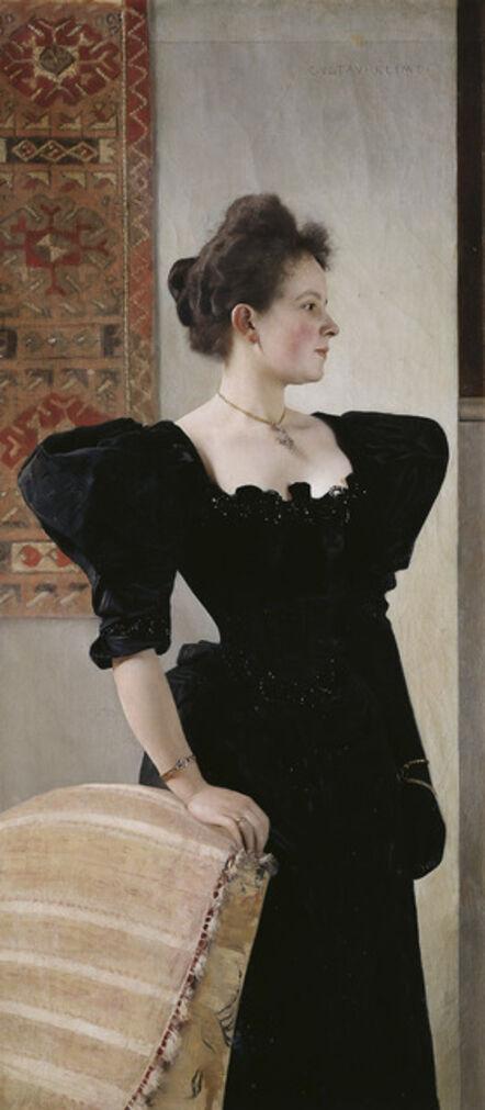 Gustav Klimt, 'Portrait of a Lady in Black', About 1894