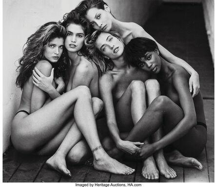 Herb Ritts, 'Stephanie, Cindy, Christy, Tatjana, Naomi, Hollywood', 1989