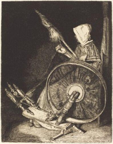 François Bonvin, 'Breton Spinner (Fileuse Bretonne)', 1861